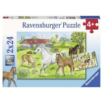 Ravensburger Puzzel Op De Manege 2X24 Stuks