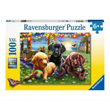 Puzzel Honden Picknick 100XXL