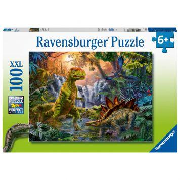 Puzzel Oase Van Dinosauriers 100XXL