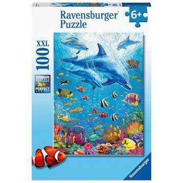 Puzzel Bijeenkomst Dolfijnen 100XXL