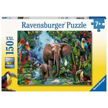 Puzzel Jungle Olifanten 150 Stukjes XXL