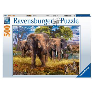 Ravensburger Puzzel Olifantenfamilie 500 Stukjes