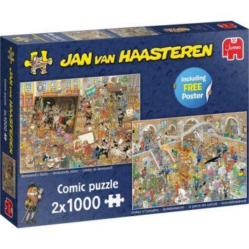 Puzzel Jan Van Haasteren Dagje Museum 2x 1000