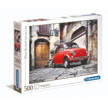 Puzzel High Quality 500 Stukjes Fiat 500 Klassiek Clementoni