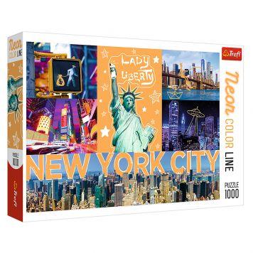 Puzzel Neon New York 1000 Stukjes