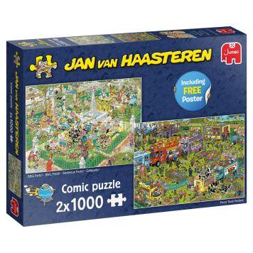 Jan Van Haasteren Puzzel BBQ & Food Market 2x1000 Stukjes