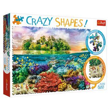 Puzzel Crazy Shapes Tropisch Eiland 600 Stukjes