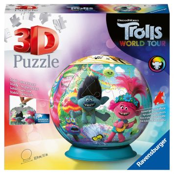 Puzzel 3D Bal Trolls 2 World Tour