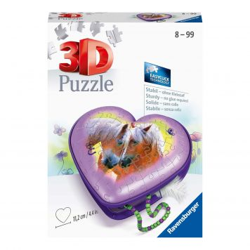 Puzzel 3D Hartendoosje Paarden