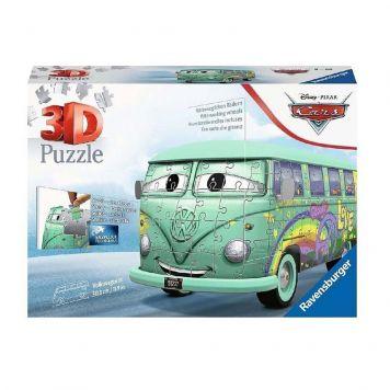 Puzzel 3D Volkswagen T1 Pixar Cars