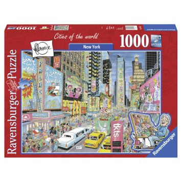 Puzzel Fleroux - New York, Cities Of The World 1000 Stukjes