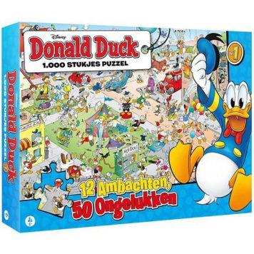 Puzzel Donald Duck 12 Ambachten 50 Ongelukken 1000 Stuks