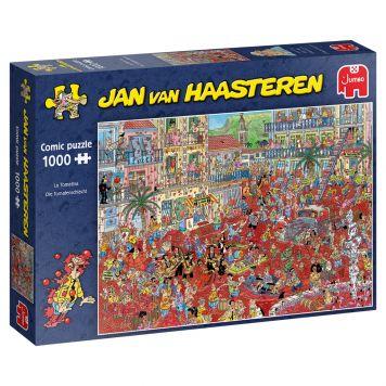 Puzzel Jan Van Haasteren La Tomatina  1000 Stukjes