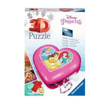 Puzzel 3D Hartendoosje Disney Princes
