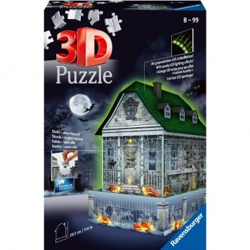 Puzzel 3d Night Haunted House
