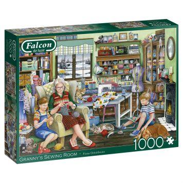 Puzzel Falcon Granny's Sewing Room 1000 Stukjes