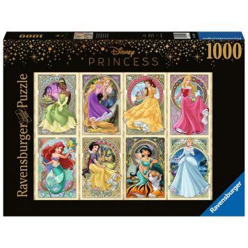 Puzzel Disney Art Nouveau Prinsessen