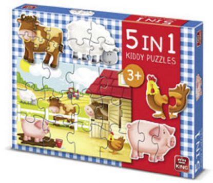 Puzzel De Boerderij 5-in-1