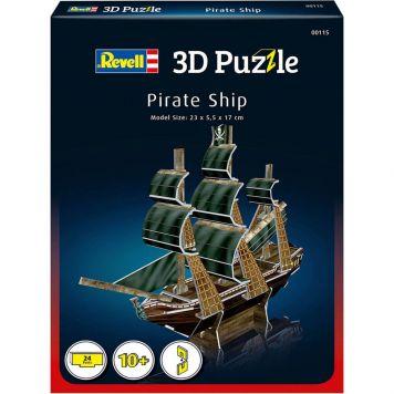 Puzzel 3D Piratenschip