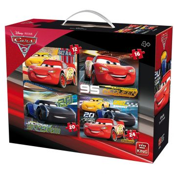 Puzzelset Cars 3 4-in-1