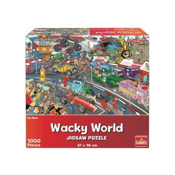 Puzzel Wacky World Car Race 1000st