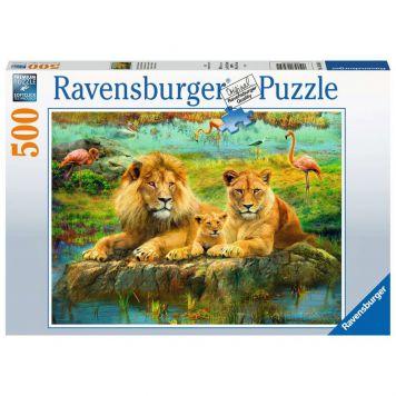 Puzzel Leeuwen In De Savanne 500 Stukjes