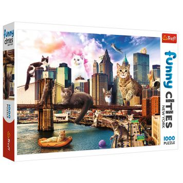 Puzzel Funny Cities New York 1000 Stukjes