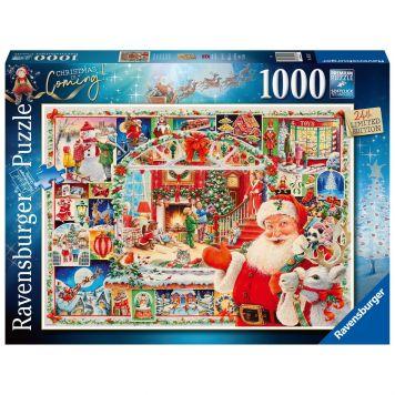 Puzzel Kerst Christmas Is Coming 1000 Stukjes