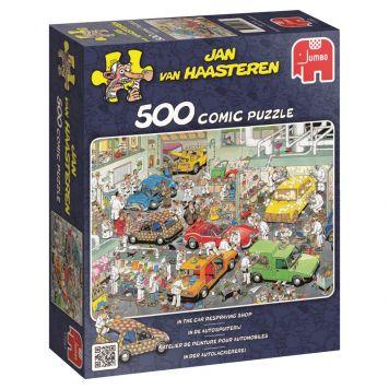 Jan van Haasteren Puzzel In De Autospuiterij 500 Stukjes
