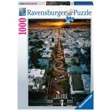 Puzzel San Francisco Lombard Street 1000 Stukjes