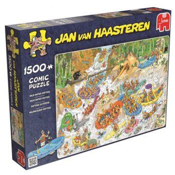 Puzzel Jan Van Haasteren Wild Water Rafting 1500 Stukjes