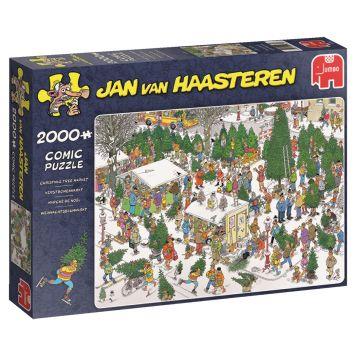 Puzzel Jan Van Haasteren Kerstbomenmarkt 2000 Stukjes