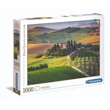 Puzzel High Quality 1000 Stukjes Toscaanse Velden