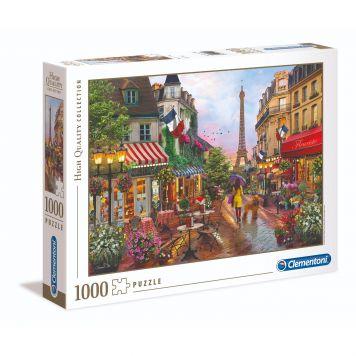 Puzzel High Quality 1000 Stukjes Bloemen In Parijs Clementoni