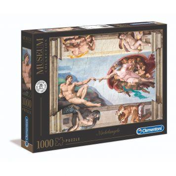 Puzzel Museum 1000 Stukjes Michelangelo Schepping Van Adam Sixtijnse Kapel Cleme