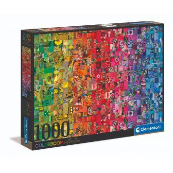 Puzzel Color Boom 1000 Stukjes Collage Clementoni