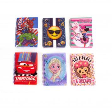 Notitieboekje Disney A5 6 Assorted