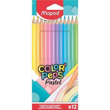 Kleurpotloden Pastel 12x In Doos Maped