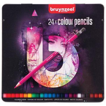 Kleurpotloden Bruynzeel Blik 24 Stuks Licht