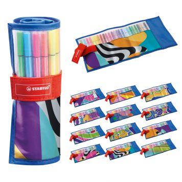 Viltstiften Stabilo Pen 68 Rollerset 25 Kleuren