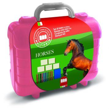 Kofferset Kleuren En Stempelen Paarden