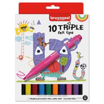 Viltstiften Triple Bruynzeel 10 Stuks