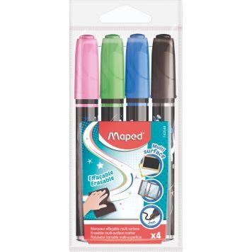 Krijtstiften 4 Kleuren Inclusief Zwart