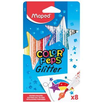 Viltstiften Glitter 8 Stuks