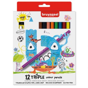 Kleurpotloden Triple Bruynzeel 12 Stuks