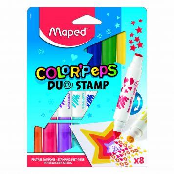 Duo Stamp Viltstiften 8 Stuks