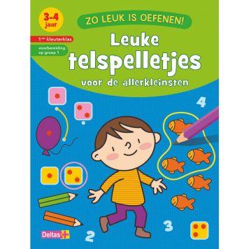 Boek Zo Leuk Is Oefenen! Leuke Telspelletjes  3-4 Jaar