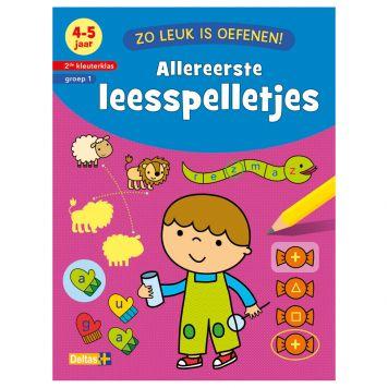 Boek Zo Leuk Is Oefenen - Allereerste  Leesspelletjes (4-5 Jaar)