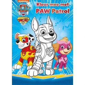 Boek Paw Patrol Kleur Je Mee Mighty Pups