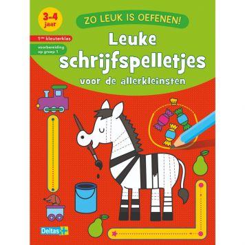 Boek Zo Leuk Is Oefenen! Leuke Schrijfspelletjes 3-4 Jaar
